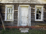 Old Log Cabin, Exterior 4 (Pittsboro, NC) Muursticker van Henri Silberman