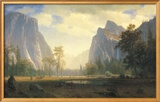 Looking Up the Yosemite Valley Print by Albert Bierstadt