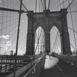Le pont de Brooklyn, New York City Autocollant mural par Henri Silberman