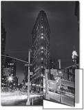 Flatiron Building, New York City at Night 2 Posters by Henri Silberman
