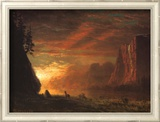 Deer at Sunset Prints by Albert Bierstadt