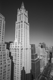 Woolworth Building and Lower Broadway - Aerial View Looking North Wall Decal by Henri Silberman