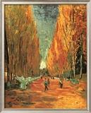 Allee des Alycamps Print by Vincent van Gogh