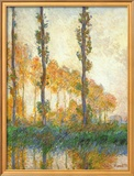 Three Trees In Autumn Prints by Claude Monet