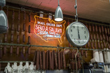 Katz's Deli Salamis with Scale (New York Landmark Eatery) Wall Decal by Henri Silberman