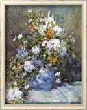 Flowers in a Vase Posters by Pierre-Auguste Renoir
