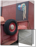 Red Truck Tires with Wall Painting (the Mission, San Francisco, CA) Posters by Henri Silberman