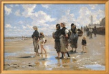 Oyster Gatherers of Cancale Poster by John Singer Sargent