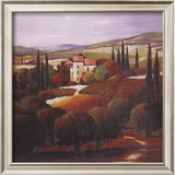 Villa in Tuscany Poster by Max Hayslette