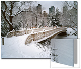 Snow Covered Bridge Central Park Posters by Henri Silberman