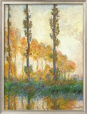 Three Trees In Autumn Art by Claude Monet