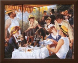 Luncheon At The Boating Party Print by Pierre-Auguste Renoir
