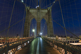 On Brooklyn Bridge Night 2 (Walkway, Arches) Wall Decal by Henri Silberman