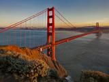 Golden Gate Bridge Afternoon Kunst på metall av Henri Silberman