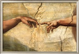 Creation of Adam, c.1510 Lámina por Michelangelo Buonarroti
