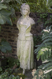 Garden Statue Female 2 (English Garden Scene with Fig Leaves) Wall Decal by Henri Silberman