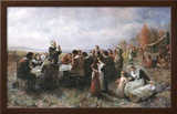 The First Thanksgiving Poster by Jean Leon Gerome Ferris