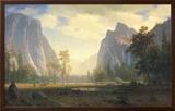 Looking Up the Yosemite Valley Posters by Albert Bierstadt