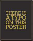Typo Stretched Canvas Print by JJ Brando