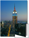Empire State Building Dusk - New York City Iconic Landmark Building Looking South Prints by Henri Silberman