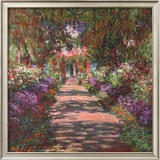 Pathway in Monet's Gardens at Giverny, c.1902 Posters by Claude Monet