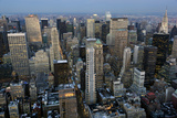 New York City, Top View 3 (Evening) Veggoverføringsbilde av Henri Silberman