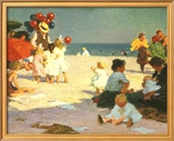 On the Beach (Potthast) Posters by Edward Henry Potthast