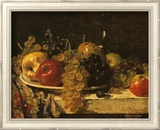 Grapes and Apples Prints by François Miel