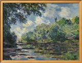 Section of the Seine, near Giverny Prints by Claude Monet