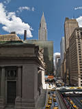 Grand Central Station Exterior, Side with Chrysler Building, New York City (East Down 42nd Street) Wall Decal by Henri Silberman