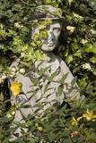 Garden Statue Wwi Soldier (English Garden Scene) Wall Decal by Henri Silberman