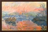 Lavacourt Sunset Posters by Claude Monet