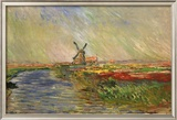 The Tulip Field, Holland Prints by Claude Monet