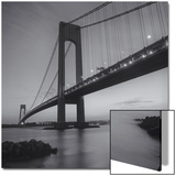 Verrazano Bridge, New York City at Night Poster by Henri Silberman