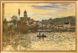 The Seine at Vetheuil Print by Claude Monet