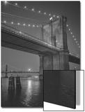 Brooklyn Bridge, New York City, Moon Prints by Henri Silberman