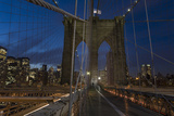 On Brooklyn Bridge Night 4 (Walkway, Arches, Lower Manhattan) Wall Decal by Henri Silberman