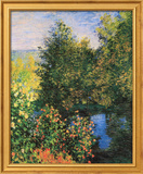 Corner of the Garden at Montgeron Posters by Claude Monet