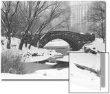 Gapstow Bridge, Central Park, Ny in Snow Art by Henri Silberman