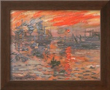 Impression, Sunrise Poster by Claude Monet