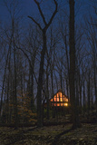 Illuminated House at Night, Chapel Hill, NC (Country Living, Night) Wall Decal by Henri Silberman