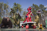 Toy Dinosaurs (Display with Skateboard) Wall Decal by Henri Silberman