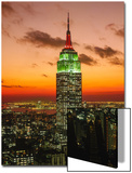 Empire State Building Sunset - New York City Iconic Landmark Building Poster by Henri Silberman