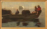 Three Boys in a Dory Poster by Winslow Homer