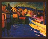Autumn Landscapes with Boats Posters por Wassily Kandinsky