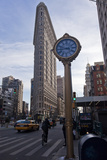Flat Iron Building, New York with Clock (Landmark Architecture) Wall Decal by Henri Silberman