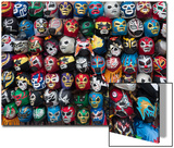Mexican Wrestling Masks 2 (Store Display in the Mission, San Francisco, CA) Prints by Henri Silberman