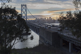 Bay Bridge from Treasure Island (Sunset on San Francisco Bay) Wall Decal by Henri Silberman