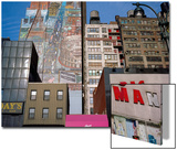 34Th Street, NYC Building Facades - Faded Murals, Old Signs Posters by Henri Silberman