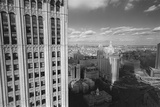 Woolworth Building and New York City City Hall - Aerial View Of Lower Manhattan Wall Decal by Henri Silberman